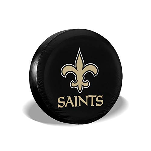 MamaTina Design Waterproof Tire Cover New Orleans Saints American Football Team Unisex Spare Tire Cover for Jeep Trailer RV SUV and Many Vehicle