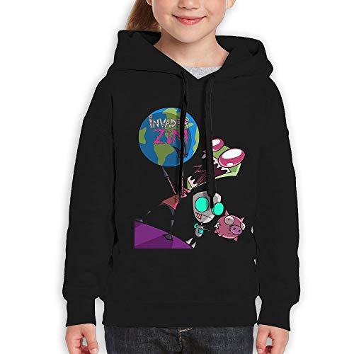 Guiping Invader Zim Youth Pullover Hooded Sweatshirt Black S (Zim Perfume)