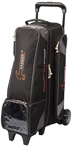 Hammer 4X4 Diesel Inline Roller Bowling Bag, Black/Carbon (Hammer Ball Bowling Bag)