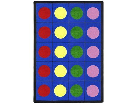 Joy Carpets Kid Essentials Early Childhood Lots of Dots Rug, Multicolored, 5'4'' x 7'8''