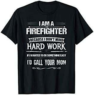 Cool Gift Funny Firefighter tshirts, Firefighter tshirts funny tees Women Long Sleeve Funny Shirt / Navy / S - 5XL
