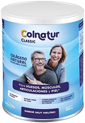 Añadiendo al carrito...Añadido a la cestaNo añadidoNo añadidoColnatur Classic Neutro 300 g - Colágeno natural asimilable puro, con vitamina C, cuidado para articulaciones, huesos, músculos y piel - 10 grs diarios, envase para 30 días.