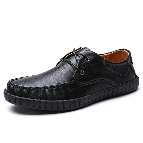 Men's Driving Shoes Genuine Leather Slip On Loafers Casual Slipper Boats