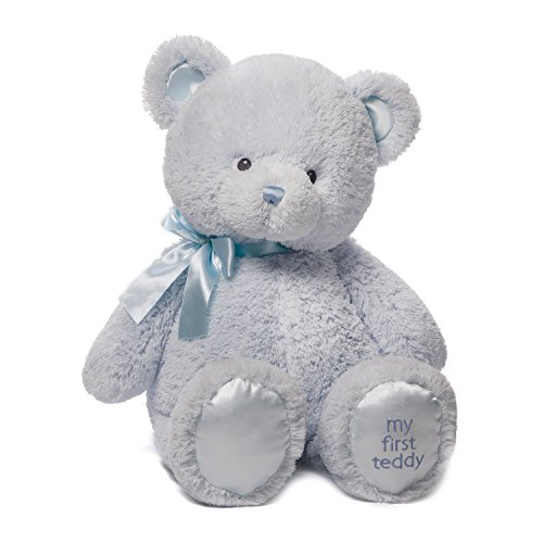 Baby GUND My First Teddy Bear Stuffed Animal Plush, Blue, 24