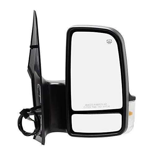 Spieg MB1321114 Side Mirror Replacement for Dodge Freightliner Mercedes Sprinter Power Heated w/Turn Signal Light Passenger ()
