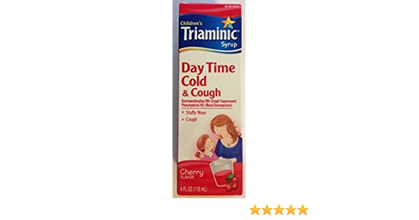 Amazoncom Triaminic Childrens Day Time Cold Cough Syrup Cherry