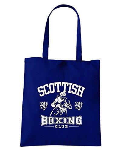 T-Shirtshock - Bolsa para la compra TBOXE0060 scottish boxing light Azul Marino