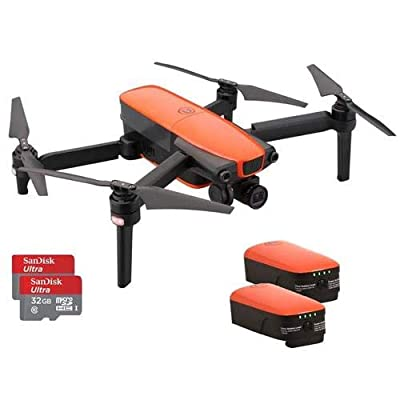 Autel Robotics EVO Foldable Quadcopter, Orange - Bundle with 2 Batteries, and 2 Memory Cards