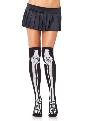 Leg-Avenue-Womens-Acrylic-Skeleton-Over-The-Knee-Socks