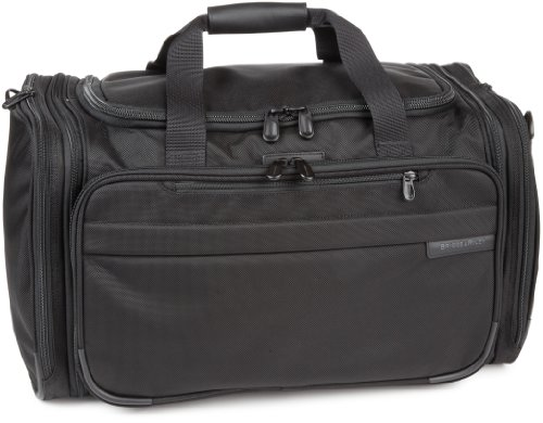 Briggs and Riley Expandable Duffle,Black,11.8×21.5×13.5, Bags Central