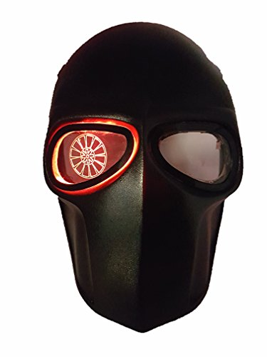 Invader King LEDs FlatBlack Mask Airsoft Mask & Paintball Mask Protective Gear Outdoor Sport Fancy Party Ghost Masks Bb Gun
