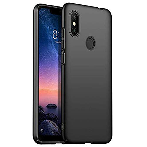 Johra® 4 Cut All Sides Protection Sleek Ipaky Hard Case Back Cover for Xiaomi Mi Redmi Note 6 Pro   Black