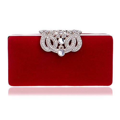 Ladies Dinner Crown Bag Banquet Clutch GROSSARTIG Red Dress Bag Evening Fashion ExwfRqdX