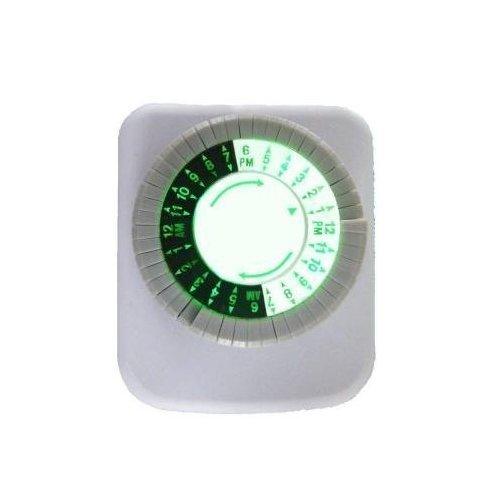 Defiant Programmable 15 Amp 24-Hour Plug-In Mechanical Big Button Timer with LED Backlight - 2-PACK