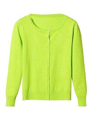 En Verde V Escote Con Punto Chaqueta Jerseys 1 Cardigan De Mujer wxBqSpYw
