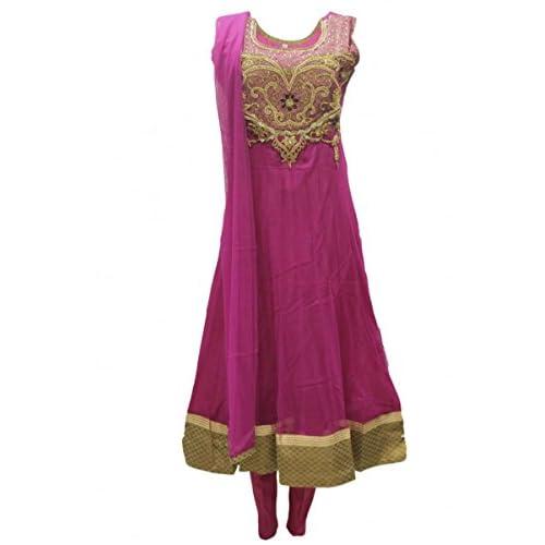 CS2008 Costume churidar rose et or Indian Bollywood Churidar Suit