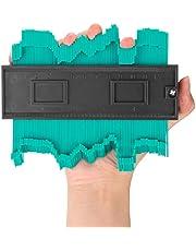 Contour Gauge Duplicator, AGPtEK NEW upgraded Irregular & Profile Gauge Duplicator 12CM/5 Inch, Circular Frame Profile Gauge Tool for Easy Cutting, Perfect for Tile, Laminate, Solid Wood & Vinyl Flooring etc.