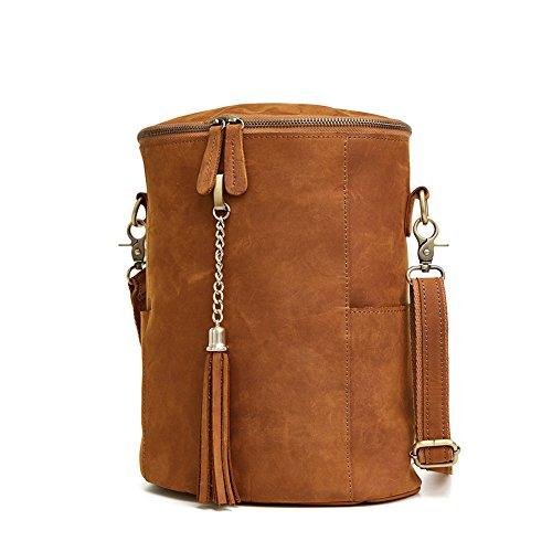 TOREEP Leather Backpack Schoolbag With Cylindrical - Singapore Branded Outlet