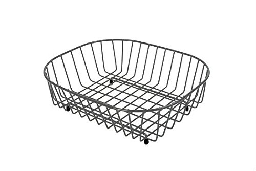 Delfinware Oval Sink Basket Dish Rack in Grey