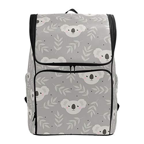 ALLMILL Backpack Seamless Pattern Cute Koala Lightweight Travel Bag Hiking Knapsack College Student School Bookbag Travel Daypack for men women