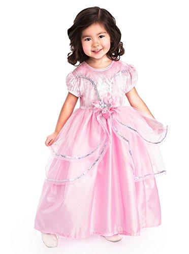 Toddler Princess Pink Costumes (Little Adventures Traditional Royal Pink Princess Girls Costume - Small (1-3)