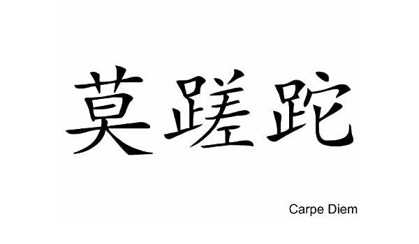 Pared Tattoo Cargar - Adhesivo Pared Carpe Diem (chino), negro ...