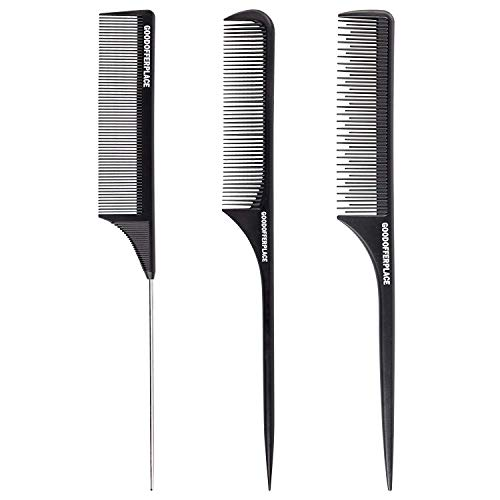 Goodofferplace 3 sytle Rat tail Styling combs Parting combs Teasing combs hair combs for women(3 Pack)