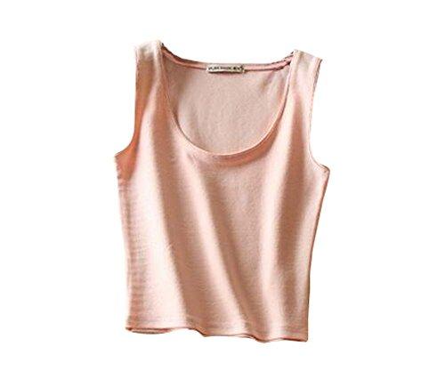 Breathable Cotton Women Summer Camisole Baselayer Vest Black Multicolor-Q
