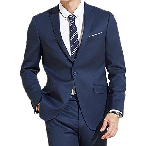 Jearey Mens Blazer Casual Slim Fit Lapel Suit Jacket One Button Daily...