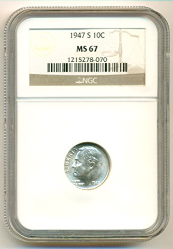 1947 S Roosevelt Dime MS67 NGC