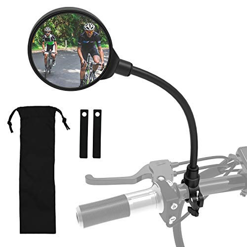 ROYOR Wide Angle Bike Mirror, 360° Adjustable Rotatable Bicycle Mirror, Bicycle Mirrors for Handlebars, Bike Mirror…