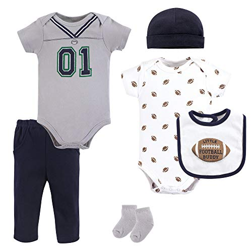 Little Treasure Unisex Baby Clothing Set, Football Jersey 6-Piece Set, 6-9 Months (9M) (The Best Football Jersey)