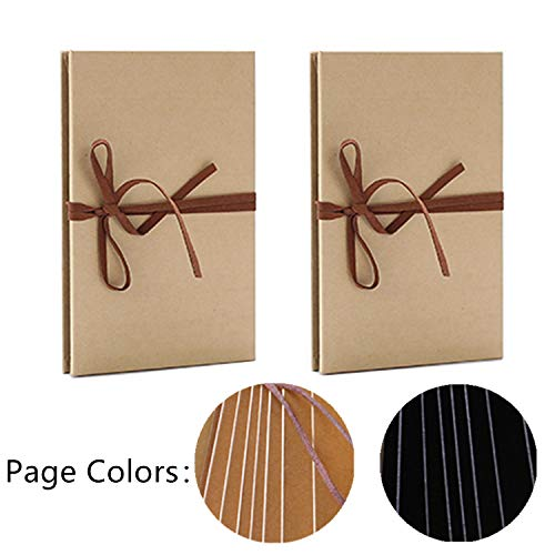 MIAO JIN 2 Pack A6 Scrapbook Albums DIY Photos Collection with Accordion Stretchable Folding Kraft Paper