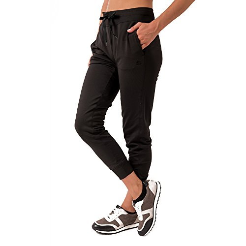 RBX Active Women's Fleece Cuffed Jogger Sweatpants Black M