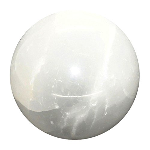 Stone Bowl Pendant (Shivansh Creations Natural Gemstone Crystal Sphere Metaphysical Ball (SELENITE))