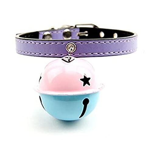 B&Y Abstract Adjustable Leather Pet Cat Dog Collars (Purple)