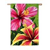 Hibiscus Dreams Garden Flag Size: 44″ H x 28″ W For Sale