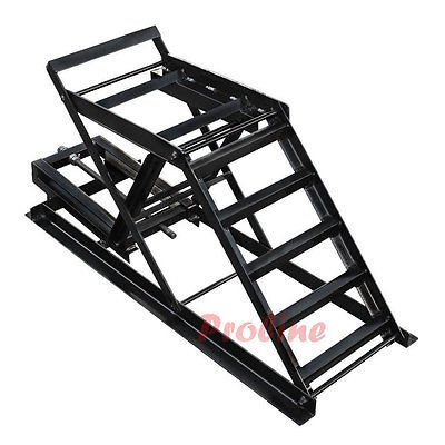 2,200 LBS Cap Car Ramp Truck Van Lift Stand Jack Adjustable Height 7-7/8 - 16''