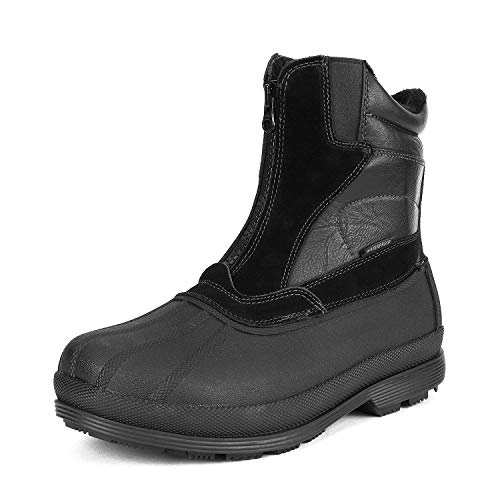 NORTIV 8 Men's 170410 Black Insulated Waterproof Construction Hiking Winter Snow Boots Size 9 M US ()