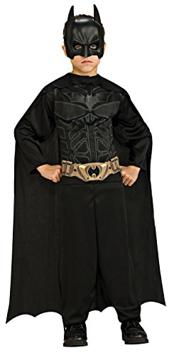 Black Batman Costumes Child (Batman: The Dark Knight Rises: Action Suit with Cape and Mask (Black))