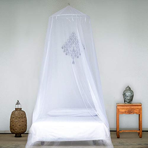 EVEN Naturals Luxury Mosquito Net for Bed, Large: for Single, Twin to Queen Size, Bed Canopy Curtains, Mosquito Netting with 1 Entry, Quick and Easy Installation, Storage Bag, No Chemicals Added