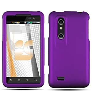 Purple Texture Hard Protector Case Cover For LG Thrill 4G