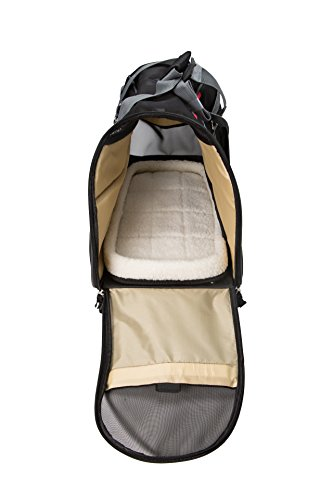 Bergan Wheeled Comfort Carrier, Large, Black