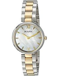 Women's Quartz Stainless Steel Dress Watch, Color:Two Tone (Model: 98L226)