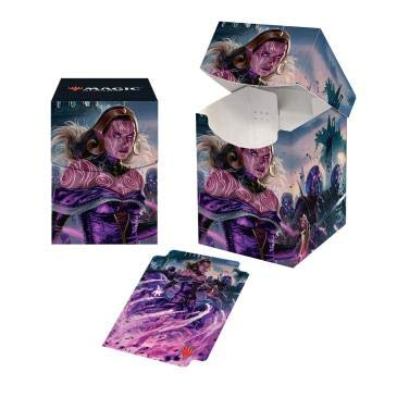 - MTG War of The Spark V2 Liliana Dreadhorde General Ultra Pro Printed Art Deck Box Magic The Gathering Case Protectors