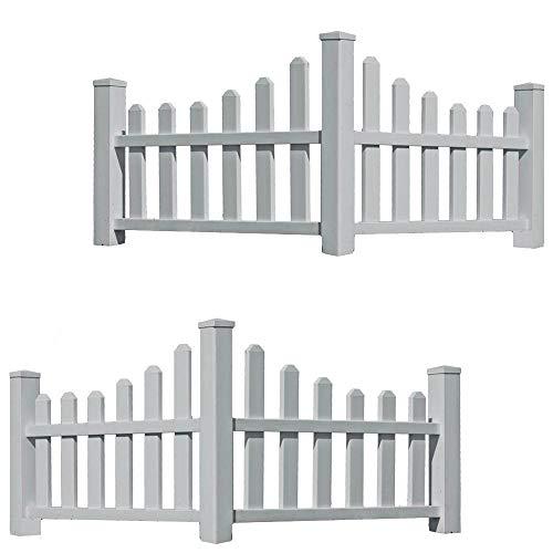 New England Country Corner Picket Fences, 2 Corners (New Yard)