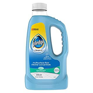 Pledge Multisurface Floor Cleaner Concentrated Liquid, Shines Hardwood, Rain Shower, 32 fl oz