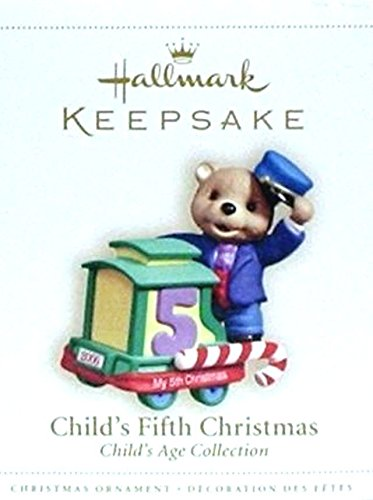 Hallmark Childs Fifth Christmas Ornament (Hallmark Keepsake Ornament - Child's Fifth Christmas 2004 (QXG5774))