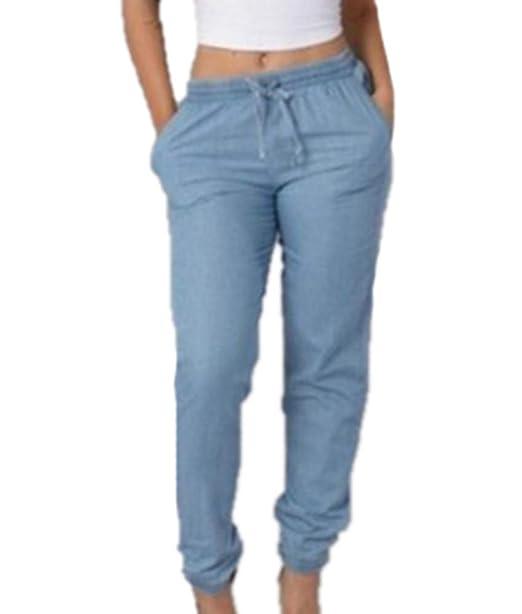 Keephen Moda Mujer Estilo Boyfriend Jeans Ladies Bottoms ...