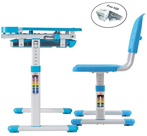 Multifunctional Height Adjustable Children's Desk Chair Set - Blue Only by eight24hours by CWY (Image #7)